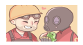 Engi and Pyro Stamp by pylun