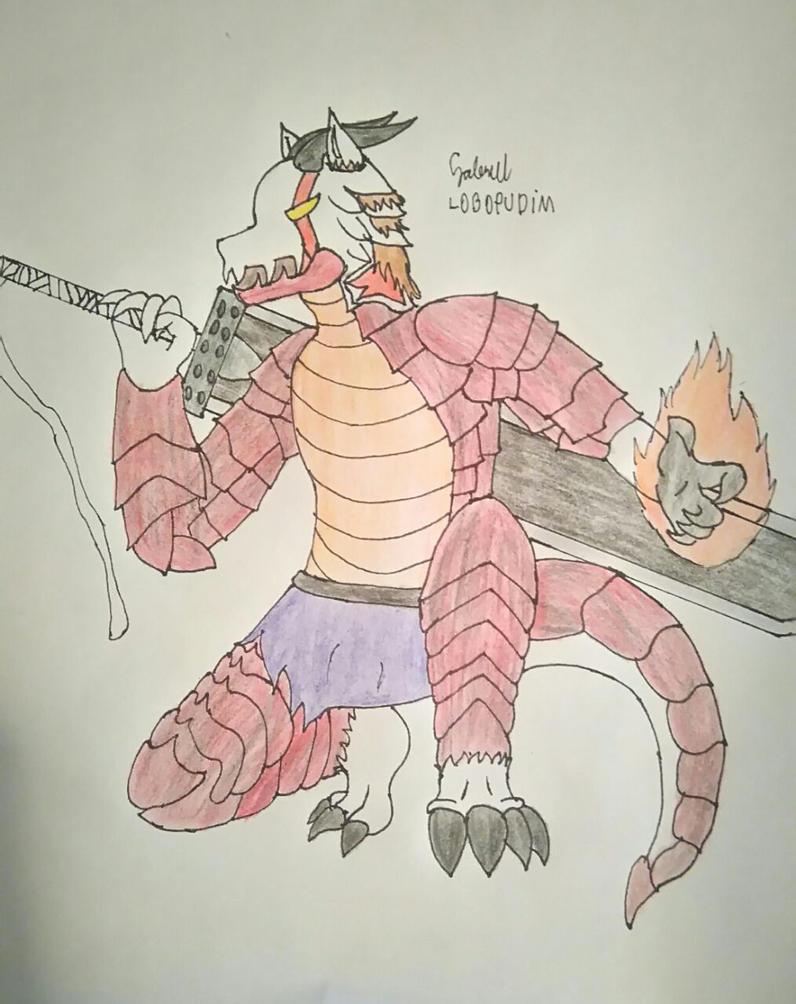 berserker dragonic akita by lobopudim