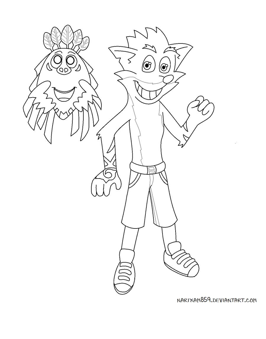 Crash Bandicoot and Aku-Aku by MaryThaCake on DeviantArt