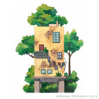 Whimsical house (2) by AdrStefanska
