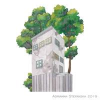 Whimsical house (3) by AdrStefanska