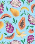 Tropical fruits by AdrStefanska