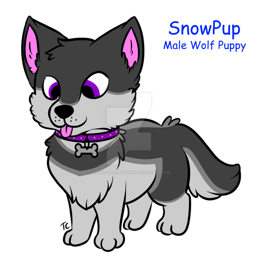 SnowPup OC Ref by InsanityAnimations