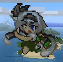 Youmu in Minecraft by Noob4u