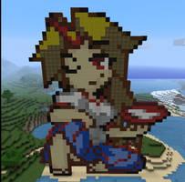 Yuugi in Minecraft by Noob4u