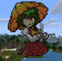 Yuuka in Minecraft by Noob4u