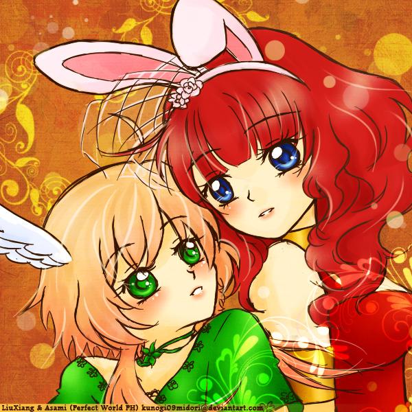 LiuXiang and Asami by kunogi09midori