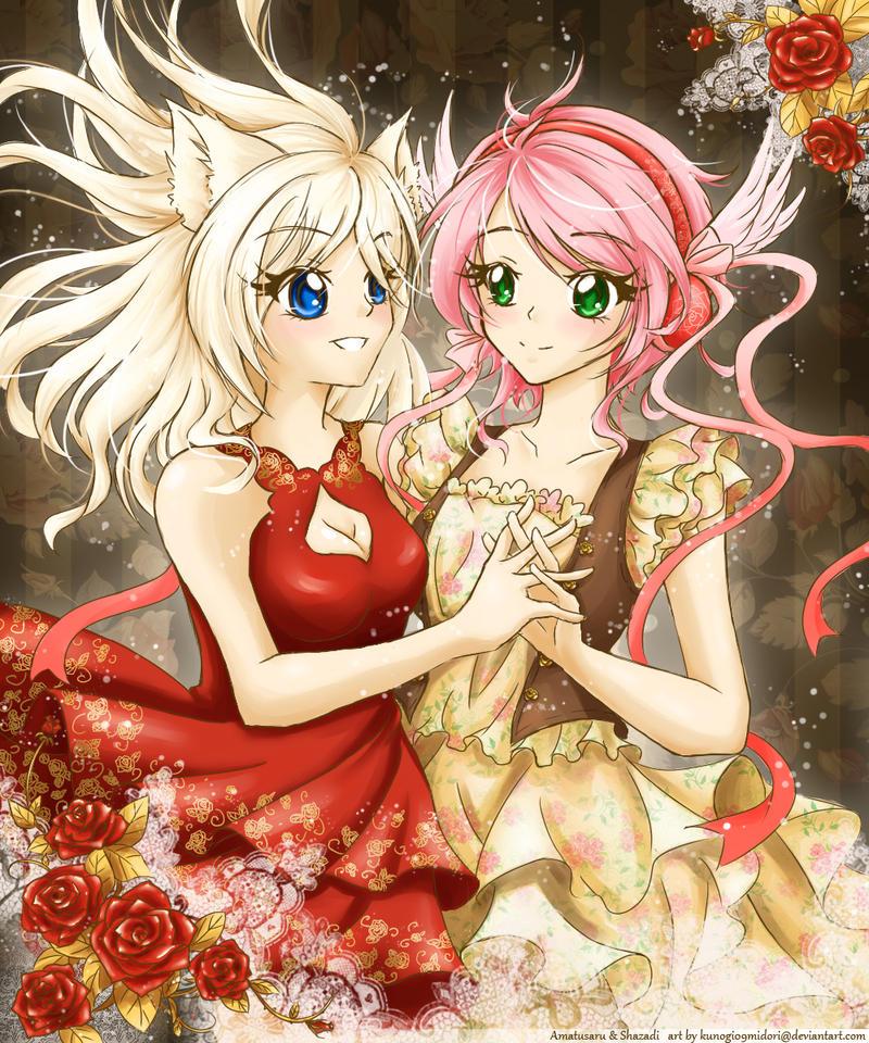 Amatusaru and Shazadi by kunogi09midori