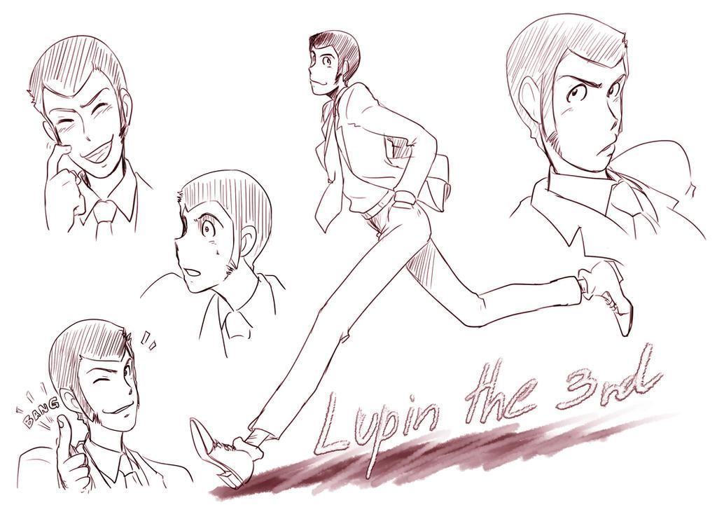 Lupin sketch by V-Sil