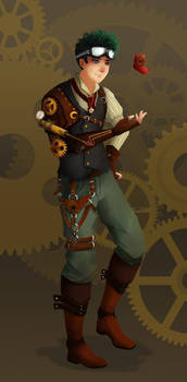 Steampunk man