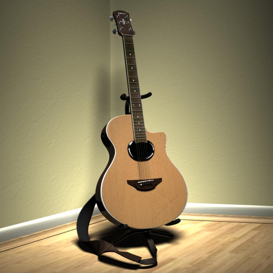 yamaha apx500 guitar 3d model by patvince on deviantart. Black Bedroom Furniture Sets. Home Design Ideas