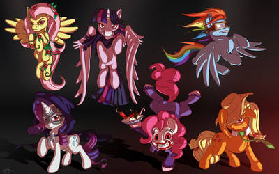 Evil Mane Six by skodadav
