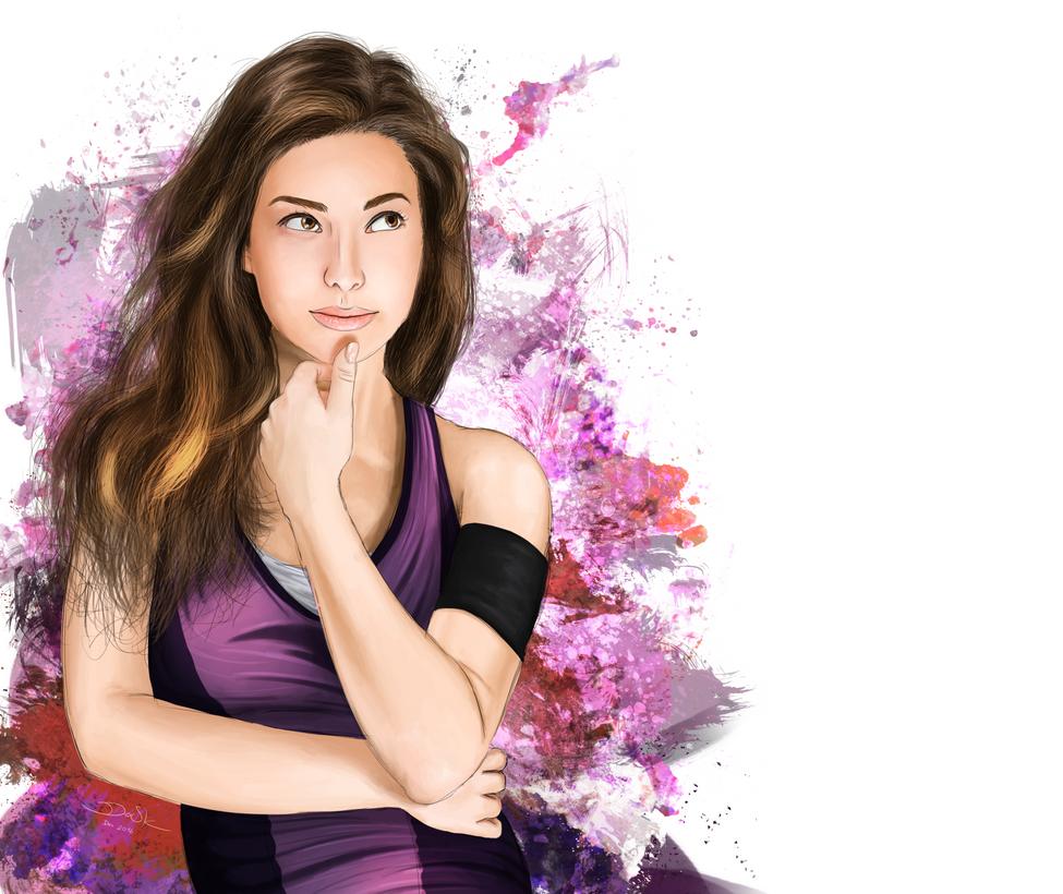 CONTOURS - Fashionable Woman Thinking by skodadav