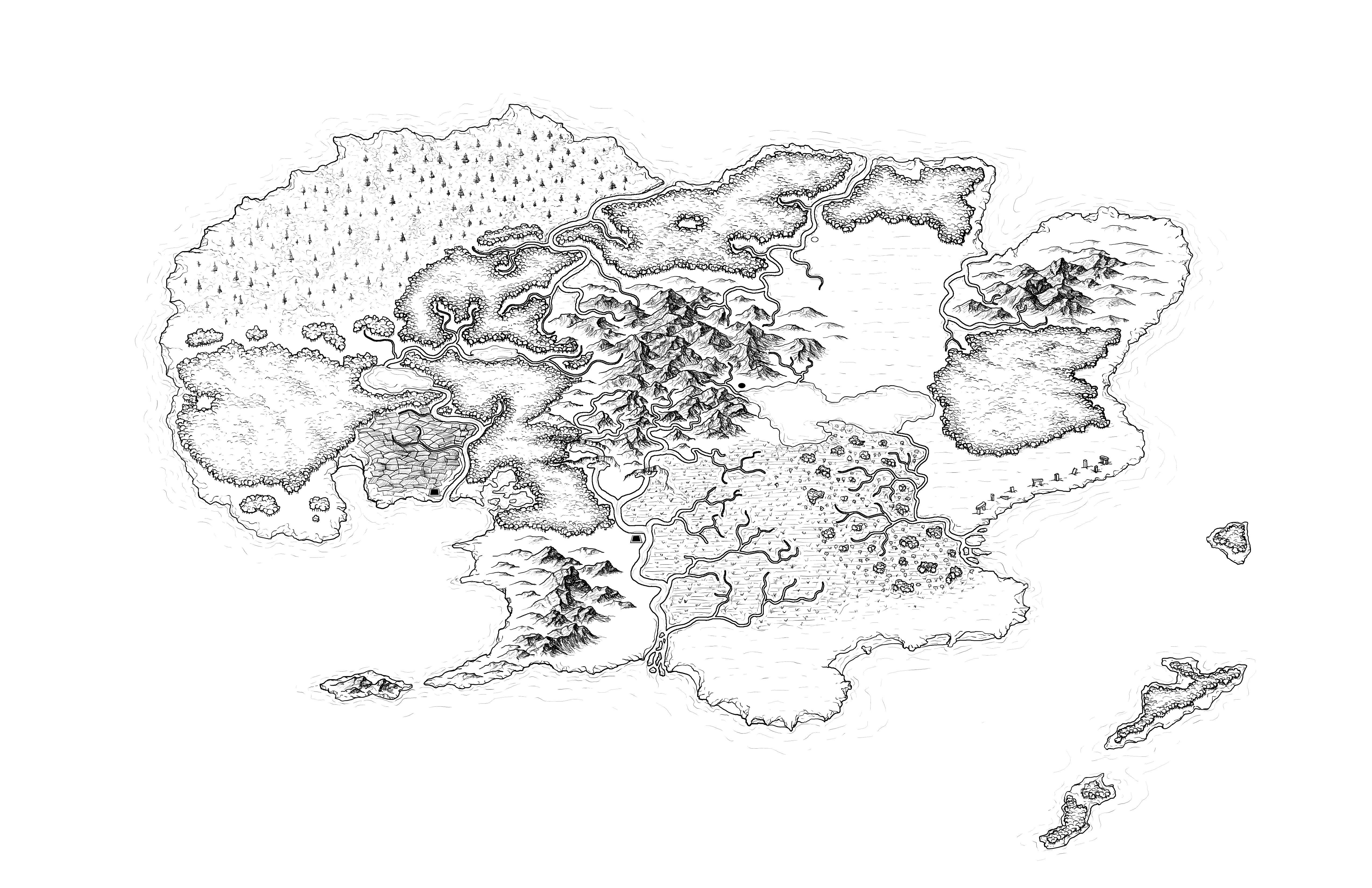 paid custom fantasy region map
