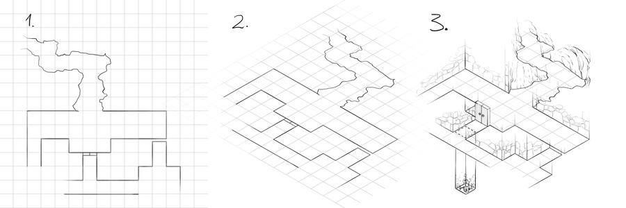 How to draw isometric dungeon plans