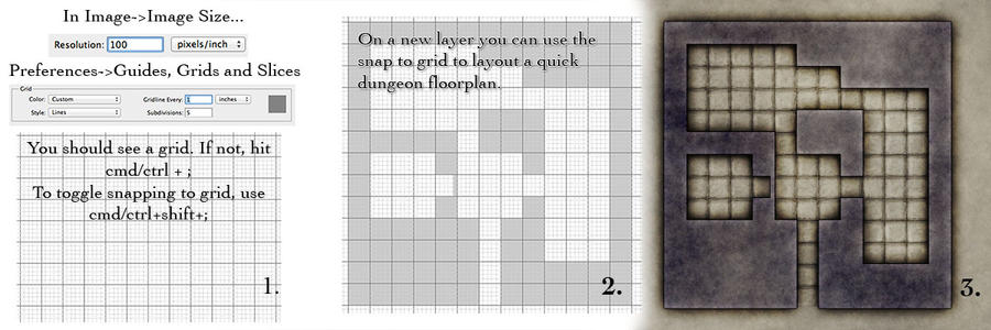 Quick and Easy Dungeons using Grids by torstan