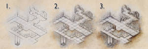 Colouring a dungeon map