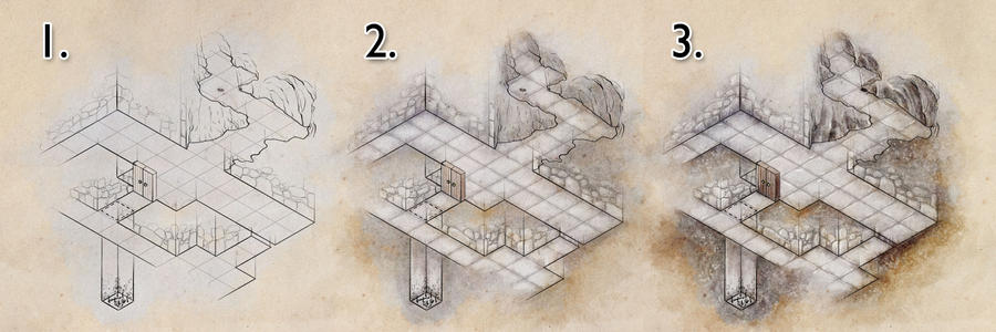 Colouring a dungeon map by torstan