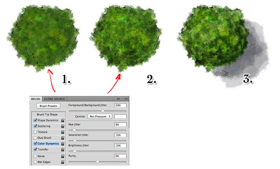 How to draw quick trees