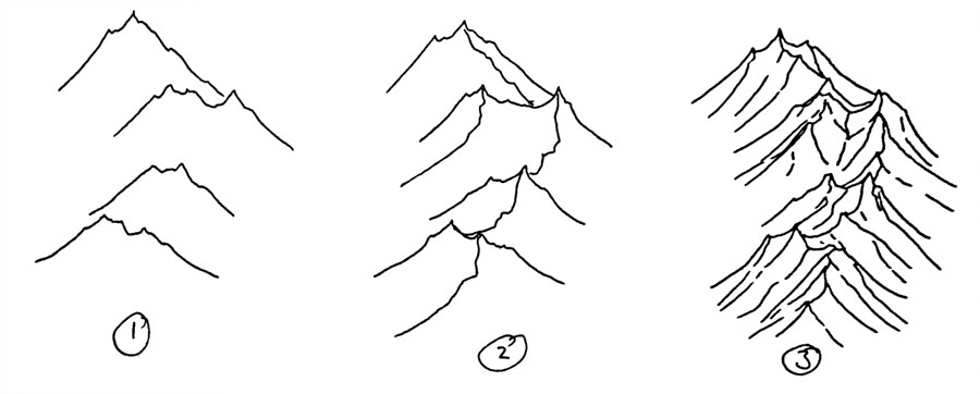 How to draw isometric mountains by torstan