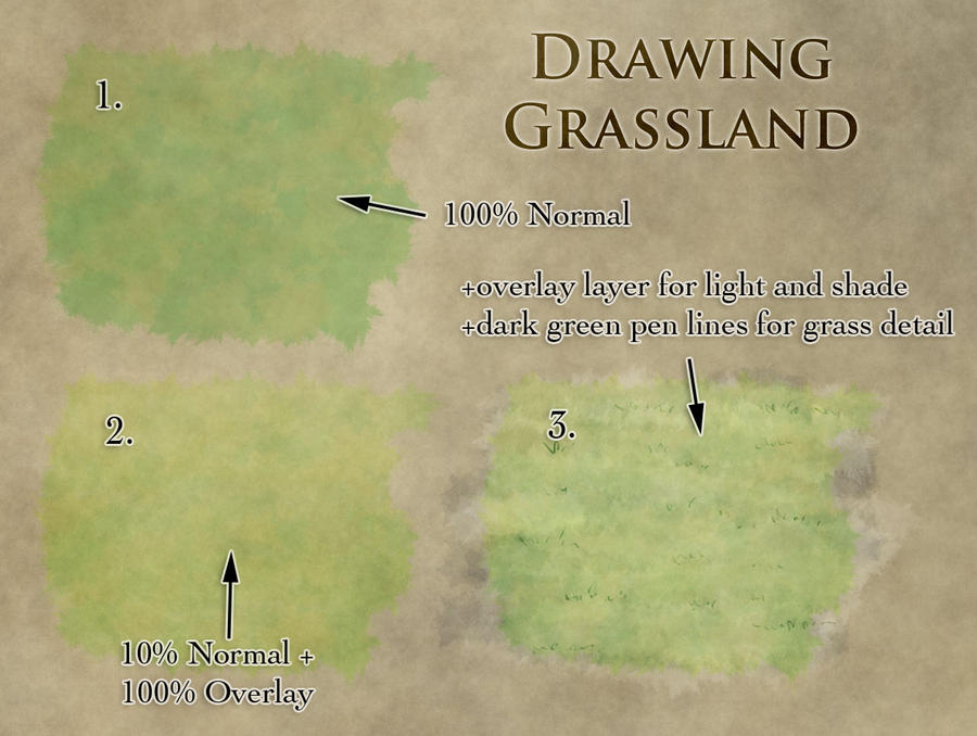 How to draw grasslands by torstan