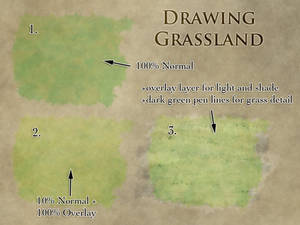How to draw grasslands