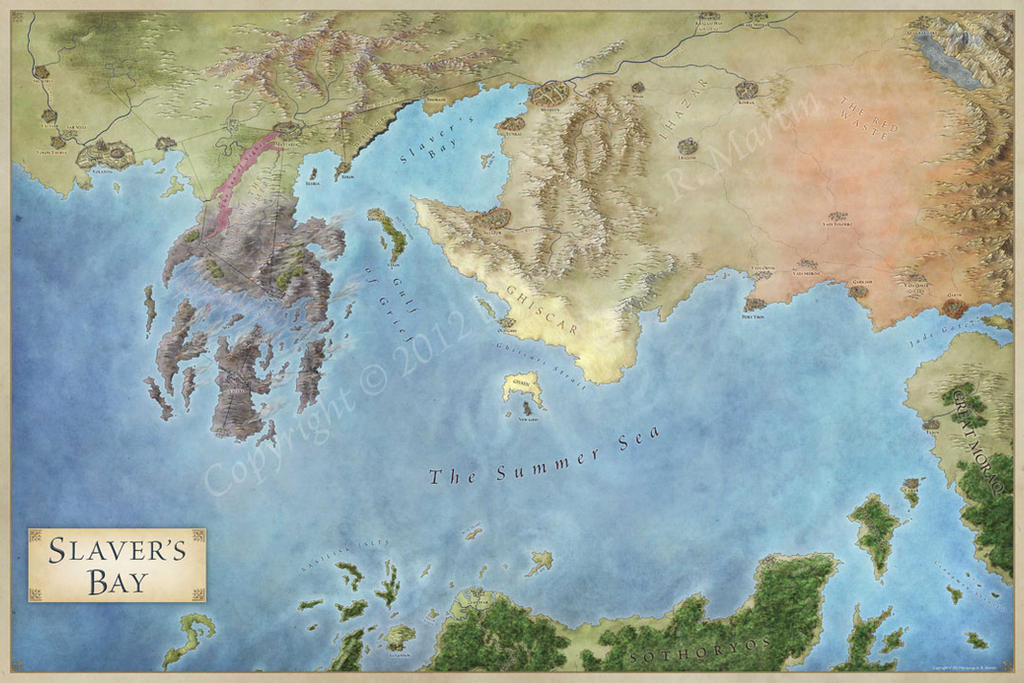 also official book the world of ice and fire with map thats also shows that island