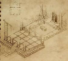 Jungle Temple Doodle