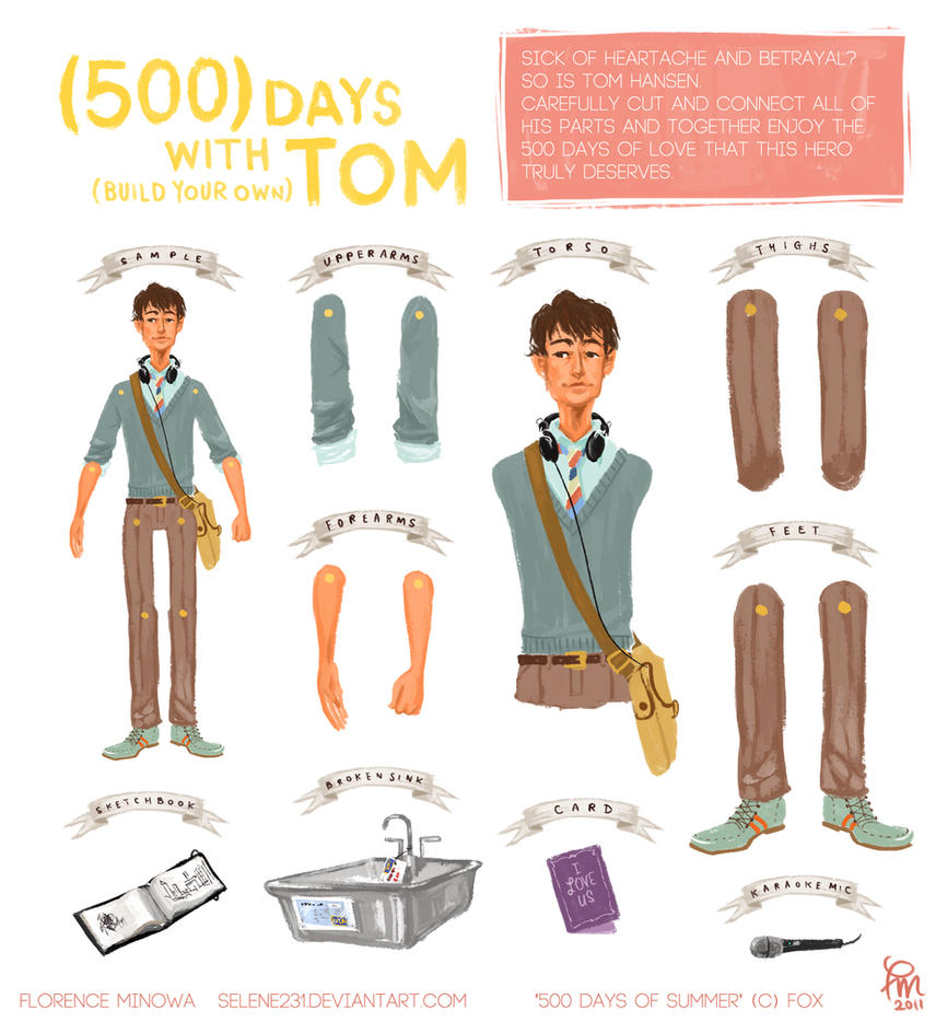 500 days of tom paper doll by flominowa on deviantart for Architecture drawing 500 days of summer