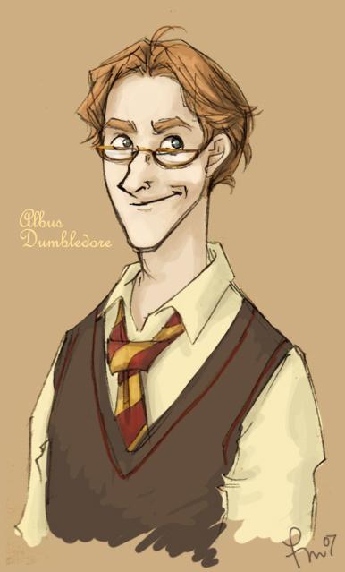yearbook: albus dumbledore by flominowa