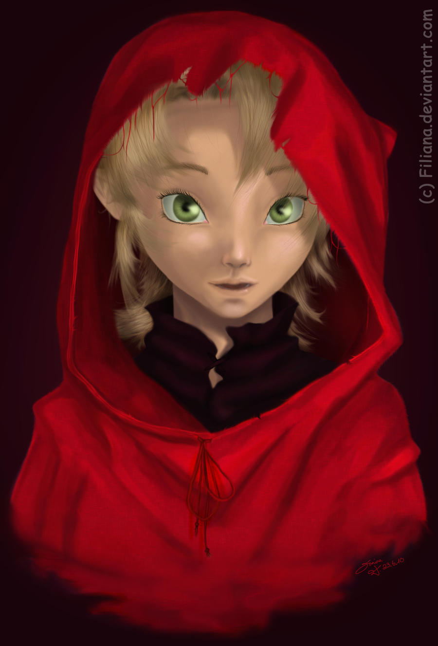 Ilia in red... by Filiana