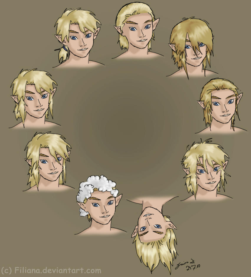 Link Haircut : Many Link hairstyles by Filiana on DeviantArt