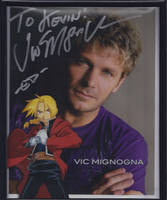 My Vic Mignogna Autographed picture by MetalShadowX2777