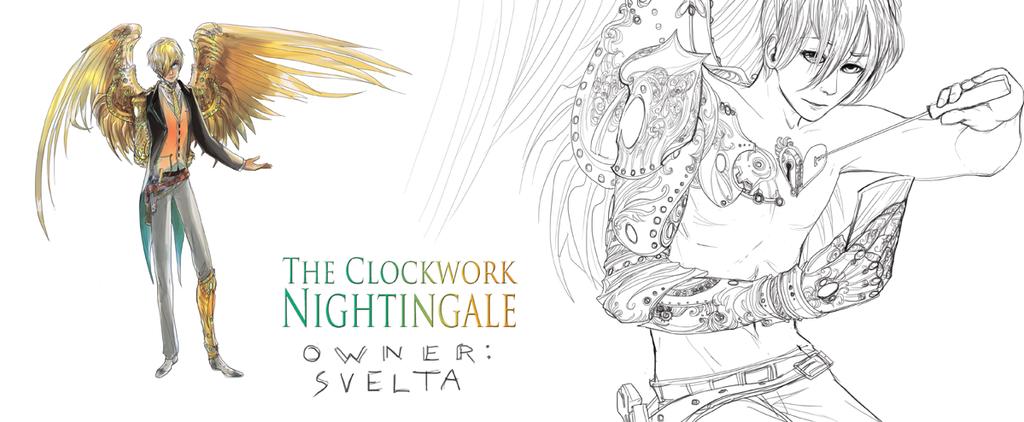 CLOCKWORK NIGHTINGALE adopt [CLOSED] by ensoul