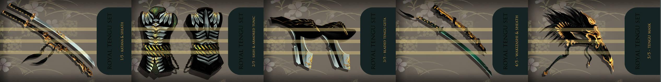 Royal Tengu set complete by ensoul