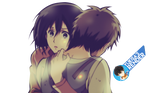 Attack on Titan's Mikasa and Eren Hugs by nisa-niisan