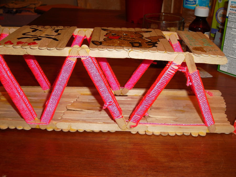 Bridges Made Out Of 100 Popsicle Sticks