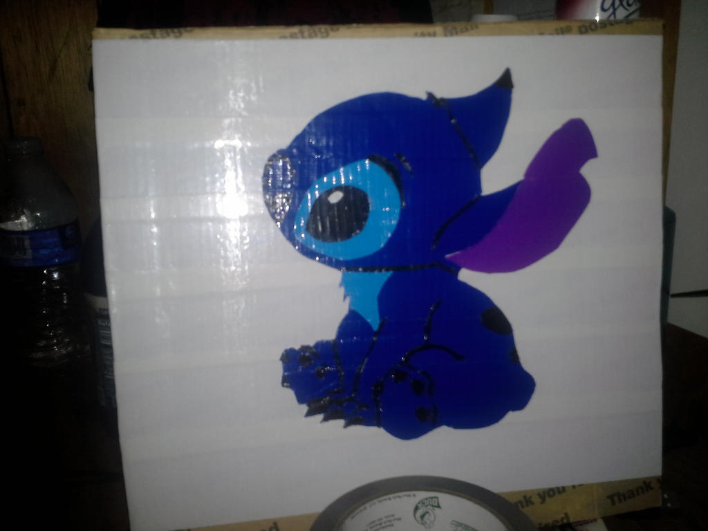 Duct Tape Painting Stitch By Anomalystory On DeviantArt - Tape painting