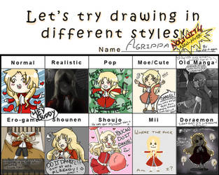 Different Styles Meme: Agrippa by kyo-did-it-again