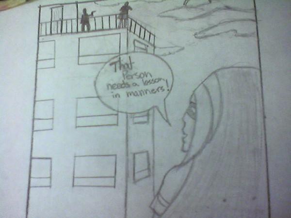 Pregnant Superhero Comic Scene by Aznwanabkati