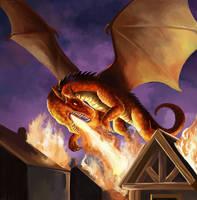 Dragon attack by Azzedar-san