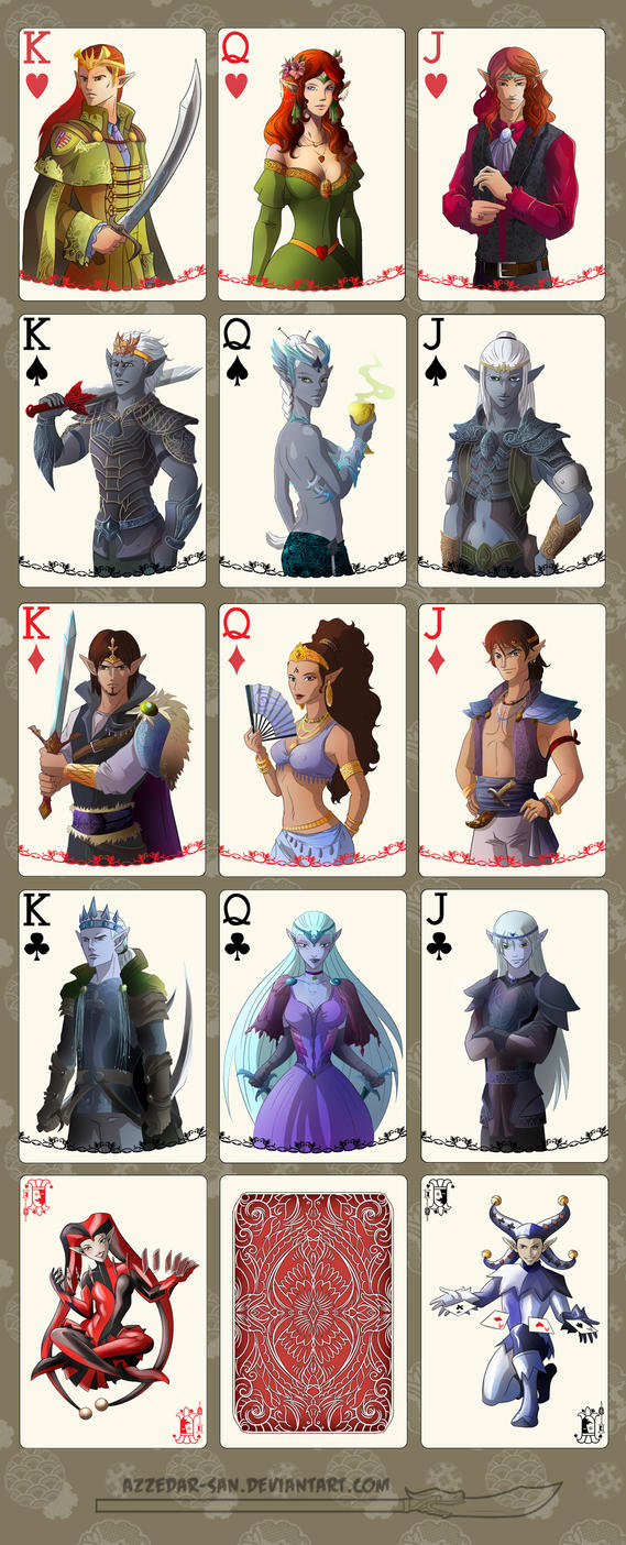 Card deck by Azzedar-san