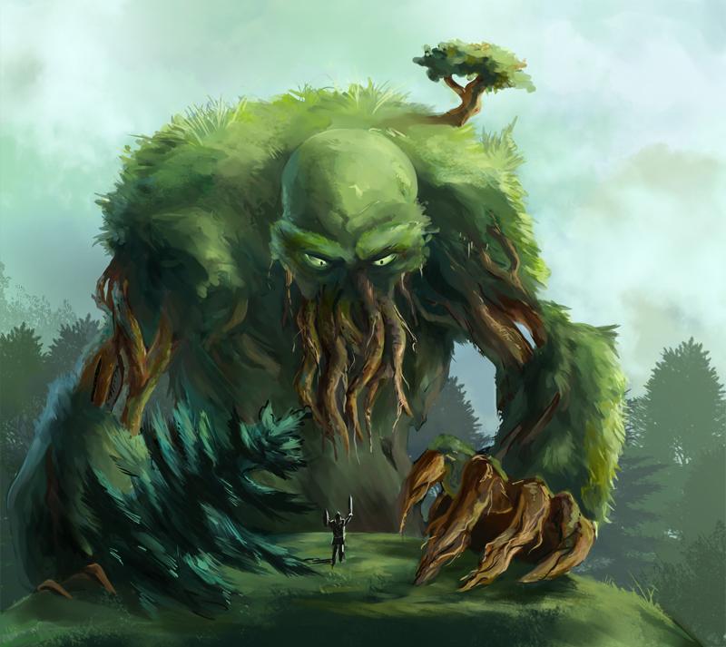 Moss giant by Azzedar-san