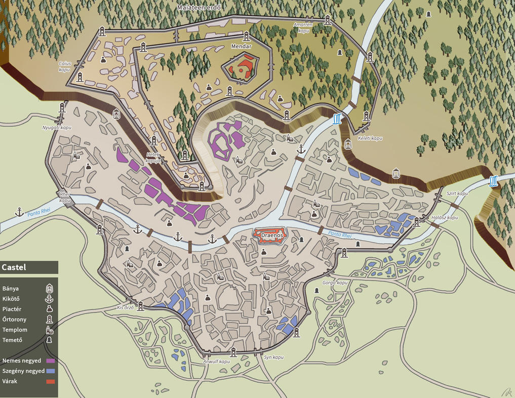 City map of Castel by Azzedar-san