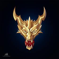 Golden dragon by Azzedar-san