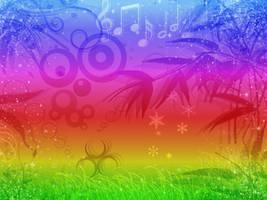 Psychedelic Rainbow Wallpaper by antichange
