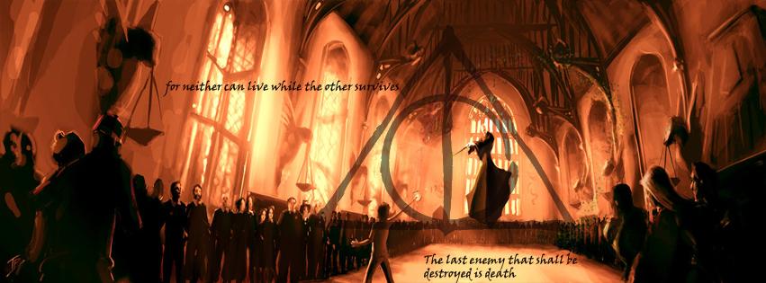 Deathly Hallows: The Final Battle Facebook Cover by raisrulez