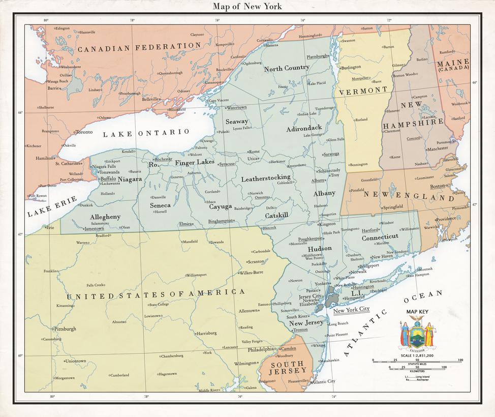 Map of New York by GarudaTeam