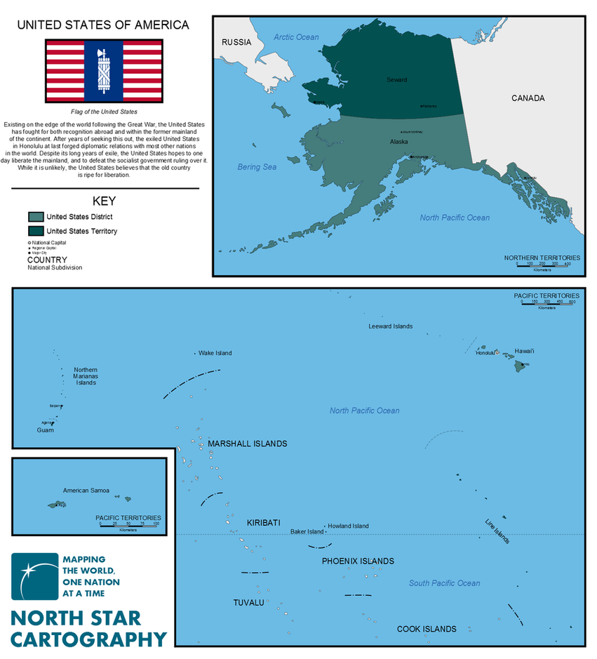 Exiled United States Map by GarudaTeam
