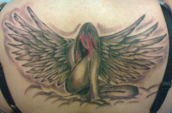 sad angel tattoo. Spirit Angel Tattoo 7Feb08 by